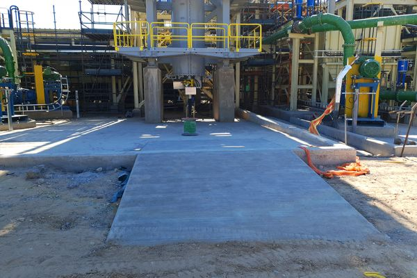 HIG mill access ramp, Jameson and Regrind areas C3 commissioned May '21
