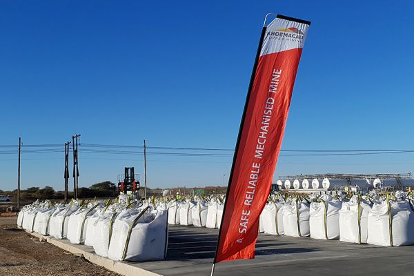 Concentrate bags loaded and ready for shipping