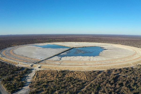 Tailings storage facility in operation