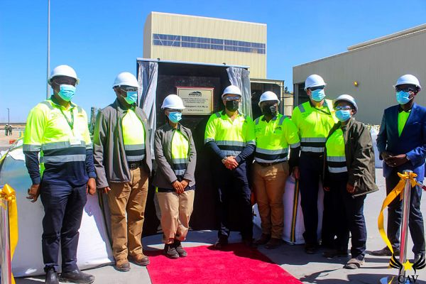 Official Opening Inauguration Ceremony Friday 30th July 2021, unveiling of the plaque by His Excellency, The President of the Republic of Botswana, Dr. Mokgweetsi Eric Keabetswe Masisi